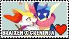 Braixen x Greninja Stamp