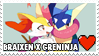 Braixen x Greninja Stamp by misawafujisaki-stamp