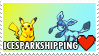 IceSparkshipping (Pikachu x Glaceon) Stamp by misawafujisaki-stamp