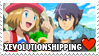 XEvolutionshipping (Alain x Serena) Stamp by misawafujisaki-stamp