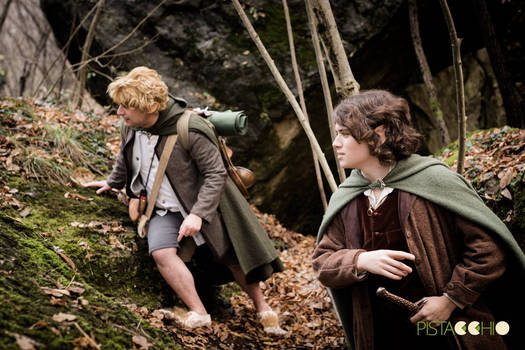 Frodo and Sam looking for the way - Cosplay