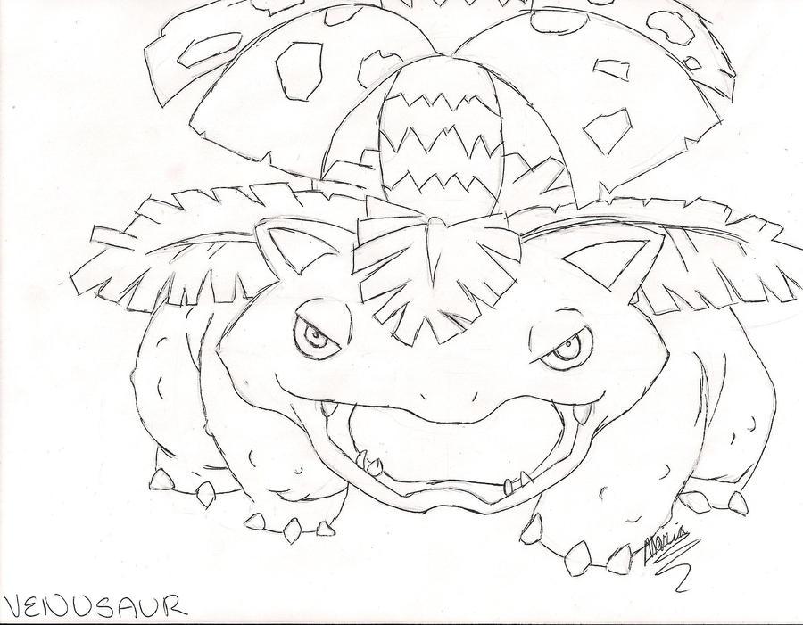 Draw Every Pokemon: Venusaur by HappyKeyBoardMadNess on ...