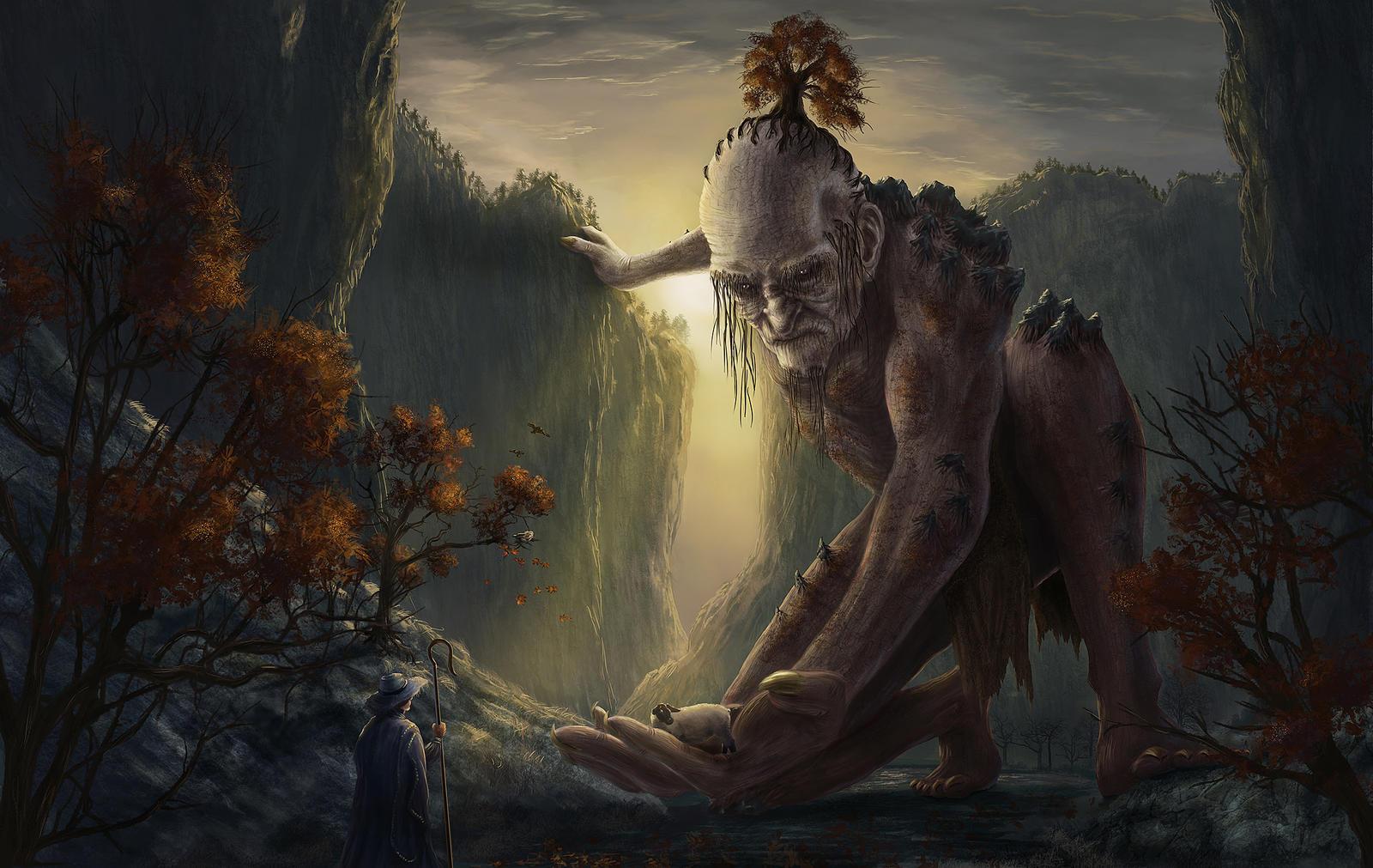Mountain Giant - Train your Brain by Elderscroller