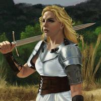 Female Knight Study by Elderscroller