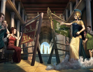 The Weaving Contest by Elderscroller