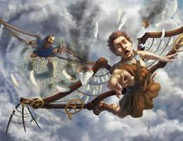 Icarus Falling by Elderscroller