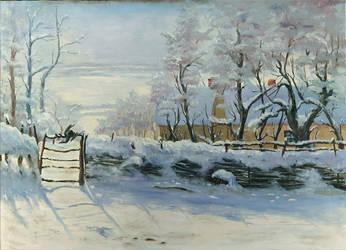 Monet Study Magpie/Dragon by Elderscroller