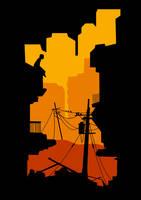 the alley. by fuzzyzebra