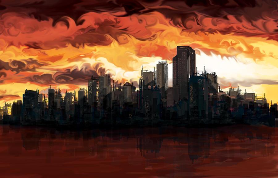 City Ablaze by fuzzyzebra