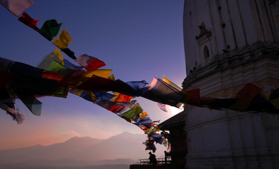 prayer flags by fuzzyzebra
