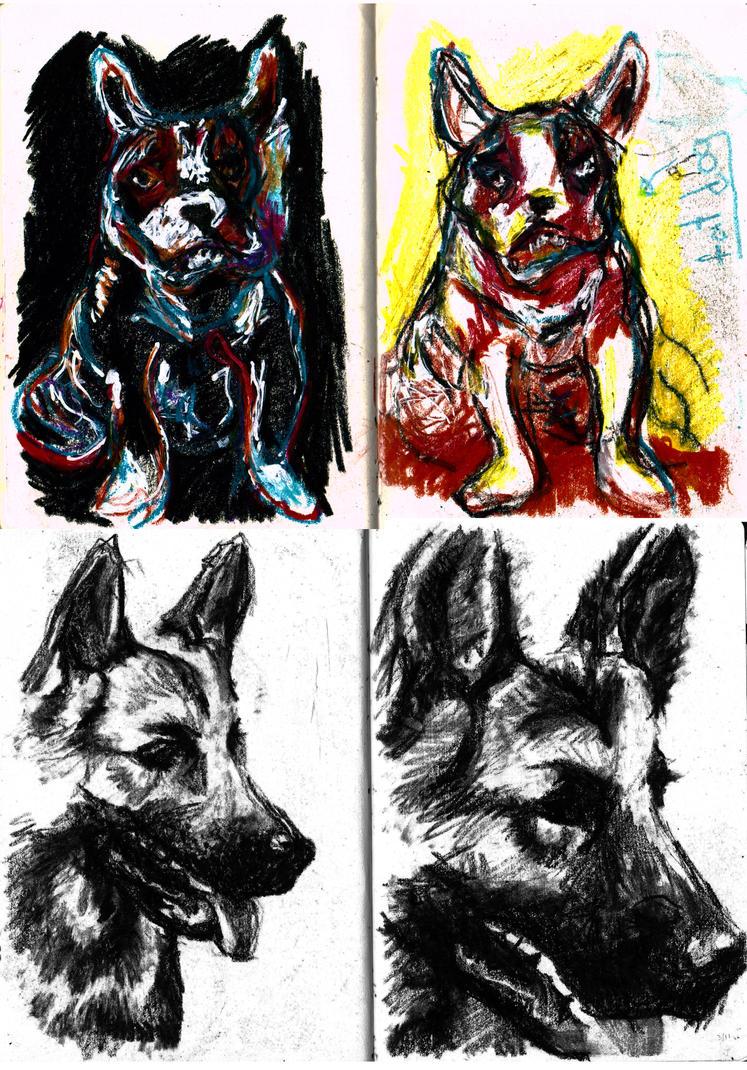 doggies by fuzzyzebra