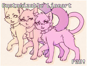 Customizable Feline Lineart! [P2U]