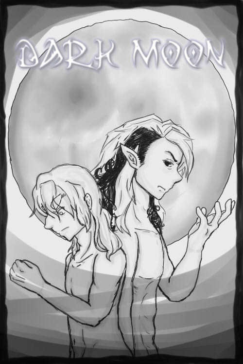 Dark Moon Manga Cover by Chibi-Prints