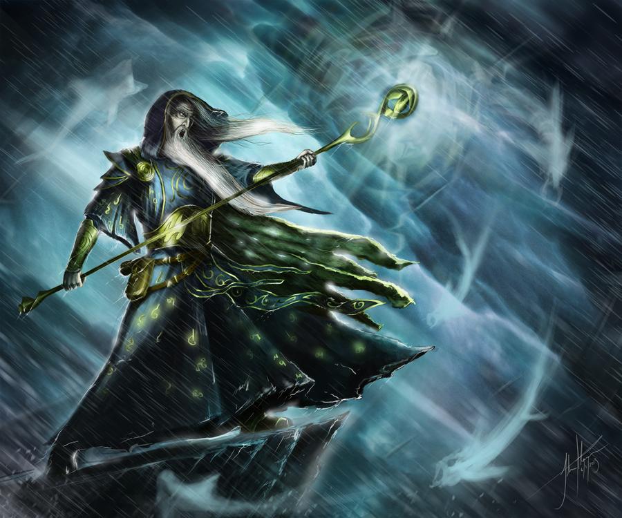Typhoon Wizard by JSfantasy