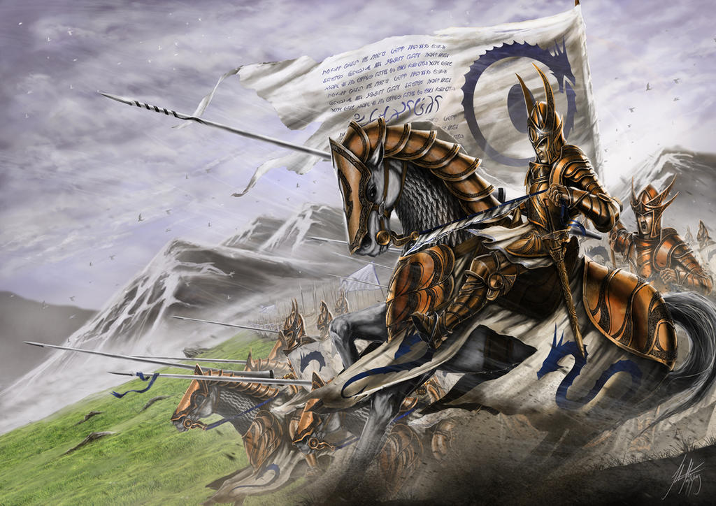 Knights of the White Dragon by John-Stone-Art