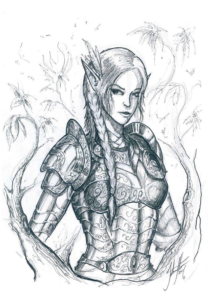Elven Knight by John-Stone-Art