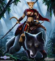 Um'Bari Huntress by John-Stone-Art