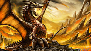 Stormfire Dragon by John-Stone-Art