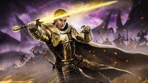 Sacred Knight Corvax by John-Stone-Art