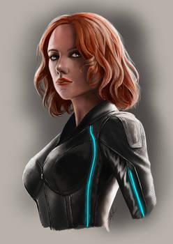 Black Widow + YouTube Speedpaint