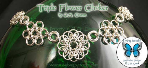 Triple Flower Choker
