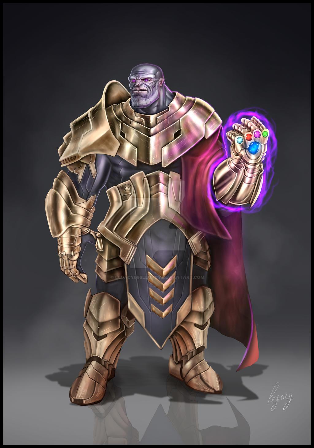 Marvel Thanos Fan Concept Art By Legacy666legacy On Deviantart
