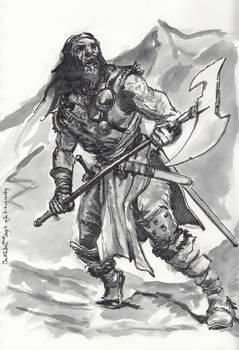 Barbarian/ pirate study - Inktober day 11