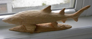 Whittled Sand Shark by carvenaked