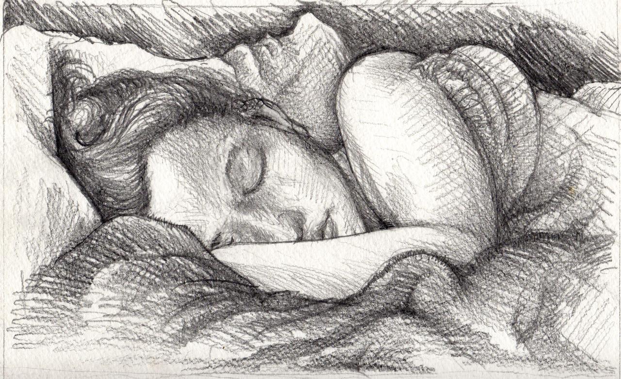 Girl Sleeping Drawing Drawing Art Girl...250 x 391