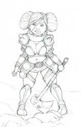 Dwarf Girl 150 by DavidRaphet