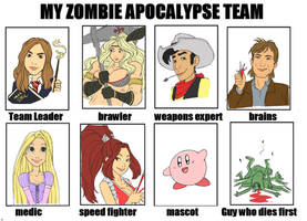 My zombie apocalypse team by DavidRaphet
