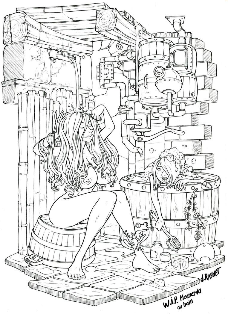Meenerva's shower by DavidRaphet