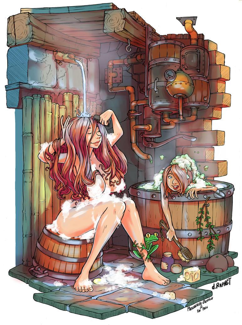 Meenerva's hot shower by DavidRaphet