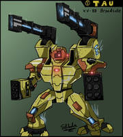 Tau XV88 Broadside Battlesuit by ShimdraShaul
