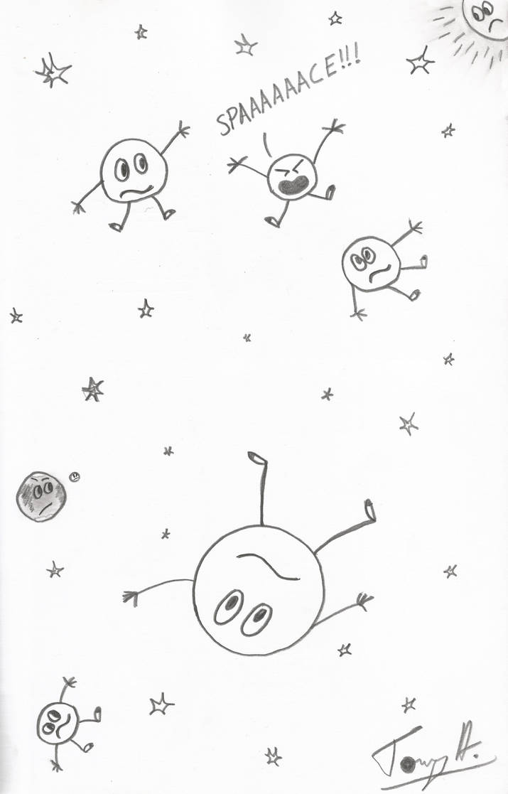 Sketch prompt 14 circle people in space by badhairdaygamer