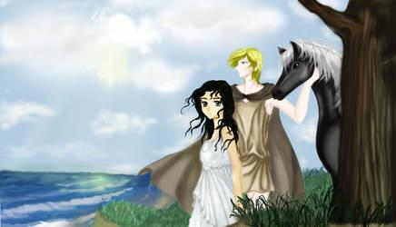 Roman couple by Beesho