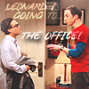Leonard is going to THE OFFICE by xelagfx