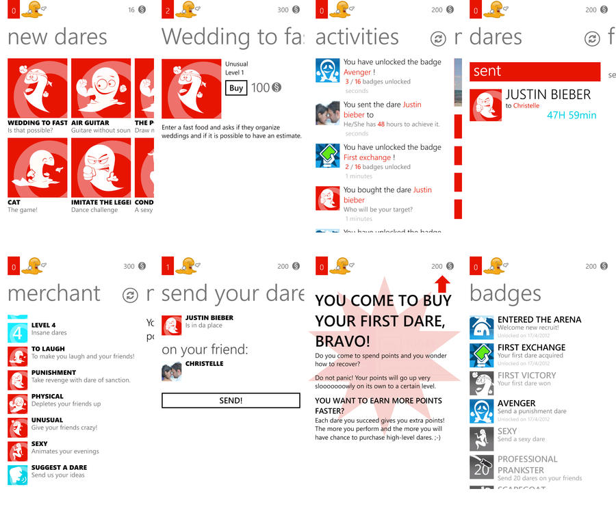 Windows Phone app - War of Dares by XavierBoubert