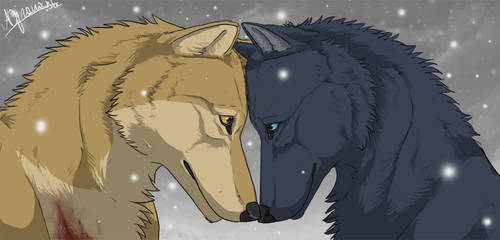 Hige and Blue. by AriaDog