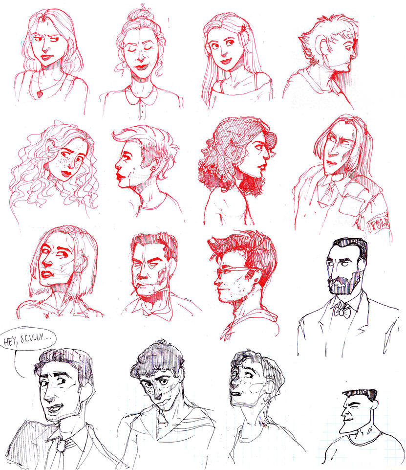 Talking heads by AriaDog