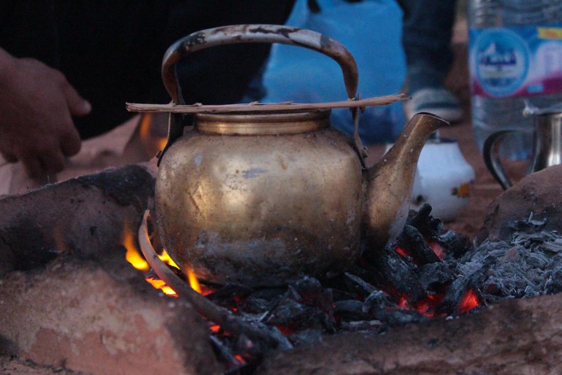 Tea on hot coals by amineht3