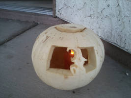 Soul Eater Themed-Jack-o-Lantern: Blaire the Cat
