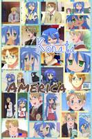 America and Konata Izumi by PrincessEmerald7