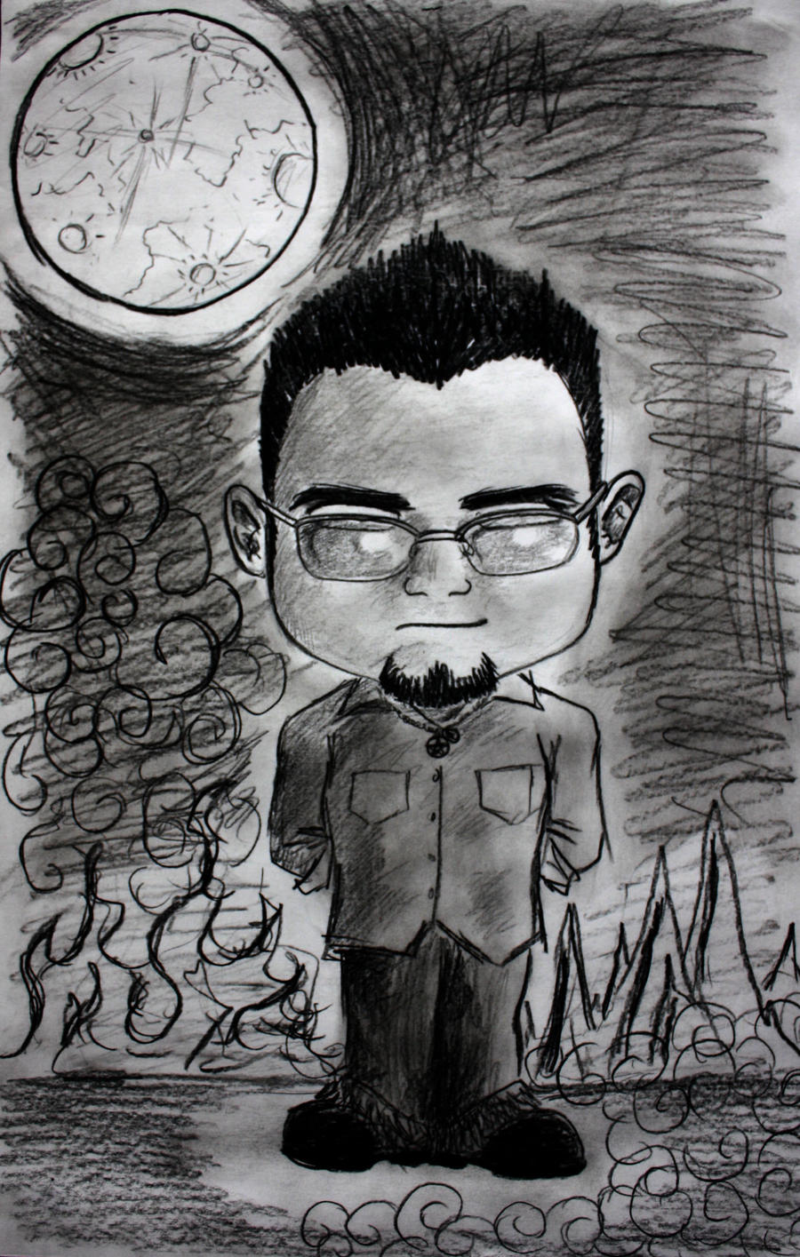 Cartoon Portrait by Oigres-Undead