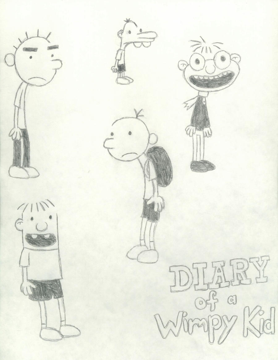 This is an image of Enterprising Diary Of A Wimpy Kid Drawing