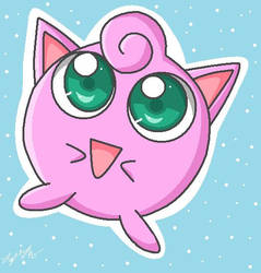 MS Paint Jigglypuff by LinzVsTheWorld