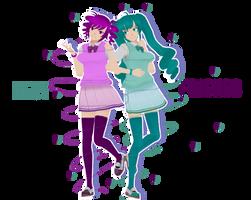(YanSim) - Best Friends - Kokona and Saki by YanX20