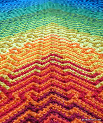 Mosaic Shawl Closeup