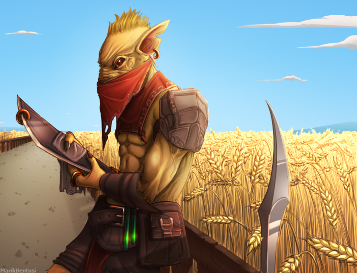 dota2 wheatfield bounty hunter by marikbentusi on deviantart
