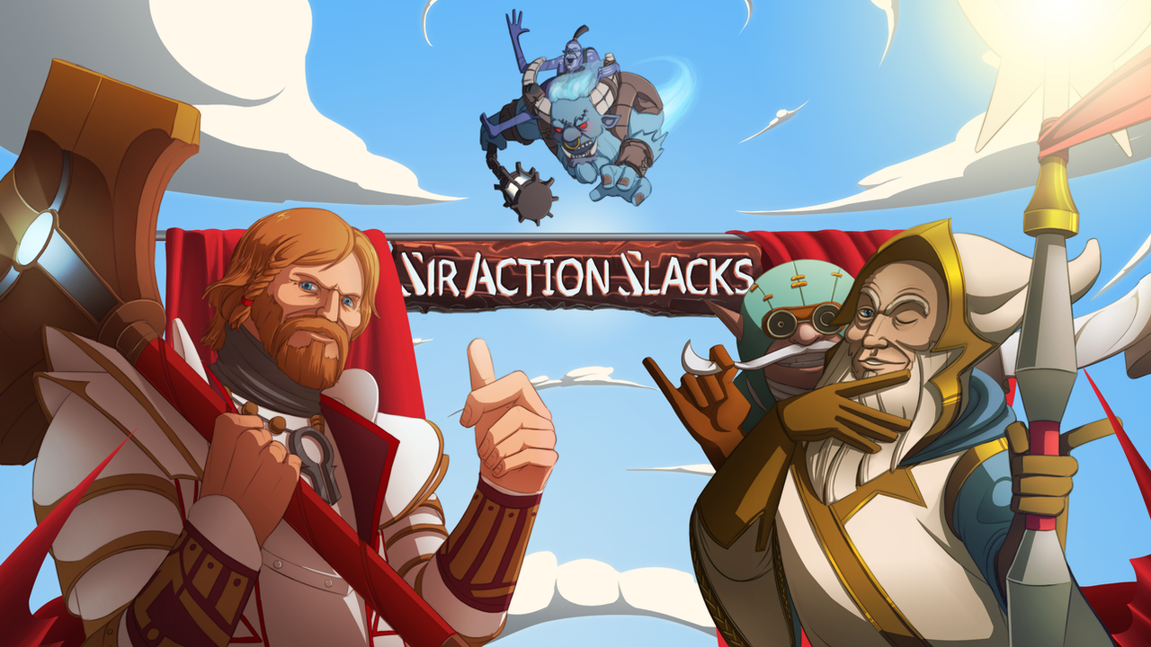 Sir Action Slacks YouTube banner by MarikBentusi